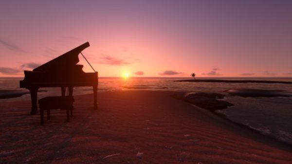 Piano on the beach
